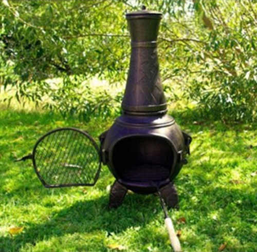 Kovový zahradní krb s velkým ohništěm