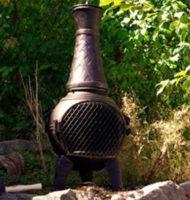 Masivní kovový venkovní zahradní krb Garden 83 cm
