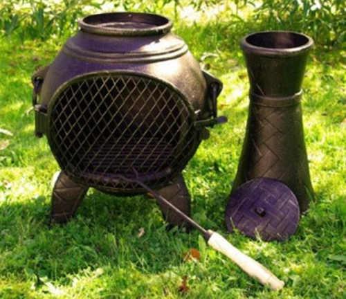 Zahradní kovový krb se sundavácím komínem