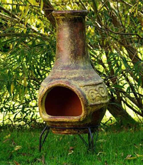 Terakotový krb 90 cm na zahradu či terasu
