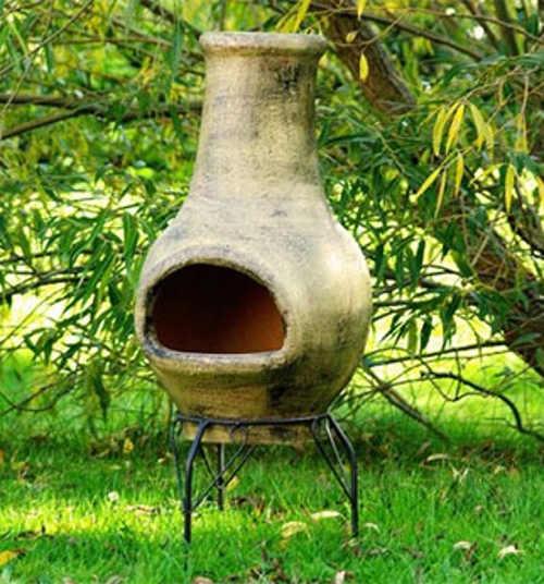 Venkovní zahradní terakotový krb 83 cm
