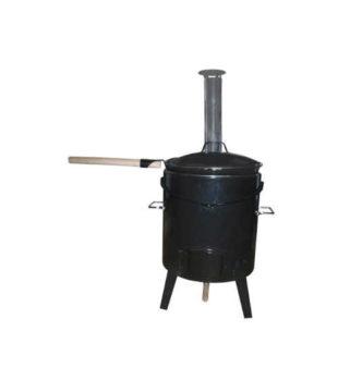 Kotlová souprava černá 16 l s vlastním topeništěm