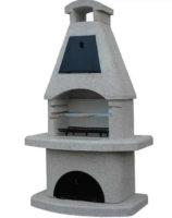 Kvalitní betonový krb s udírnou v horní části