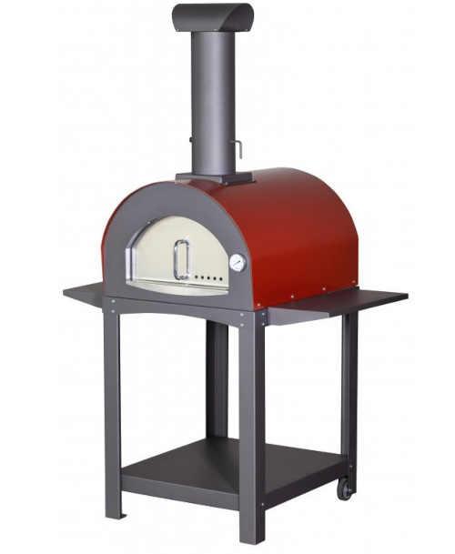 Pizza pec v černo-červeném provedení